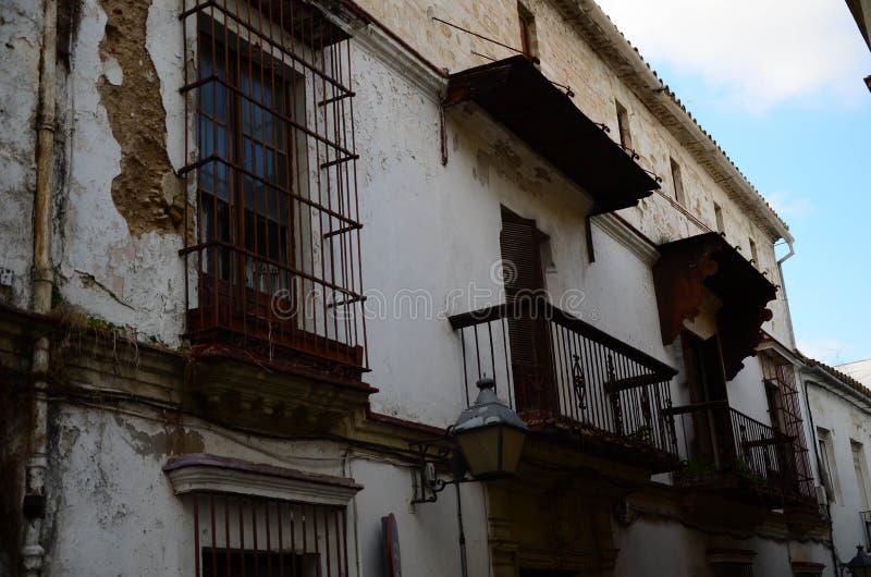 De bouw van Jerez de la Frontera stock afbeeldingen