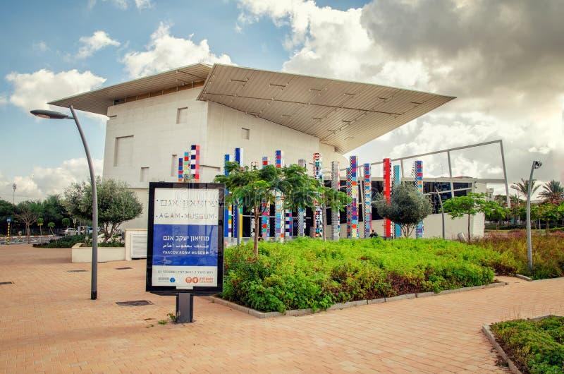 De bouw van Kinetisch Art Museum in Rishon LeTsiyon stock afbeelding