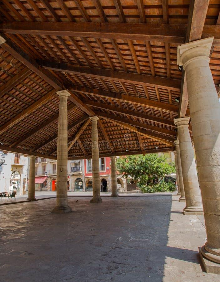 De bouw van La Porxada van Granollers royalty-vrije stock foto's
