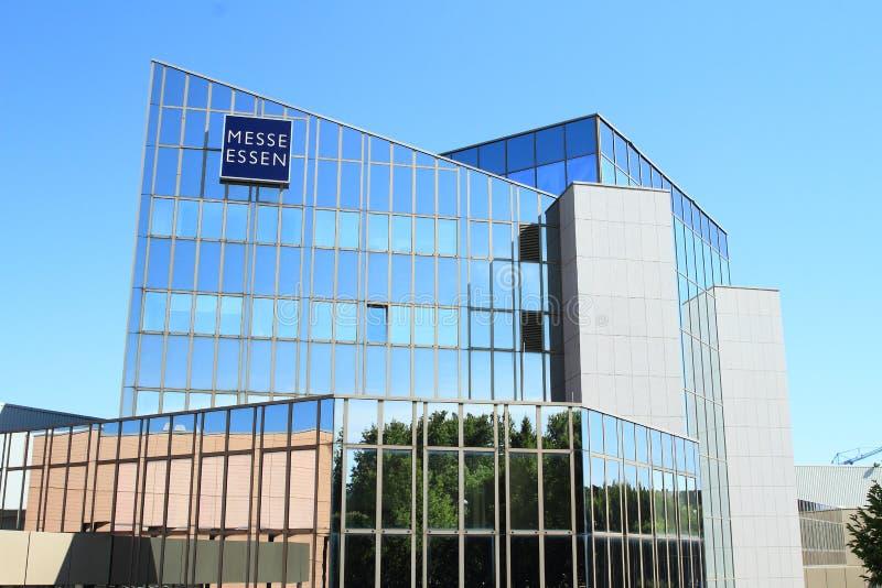De bouw van Messe Essen in Duitsland stock afbeeldingen