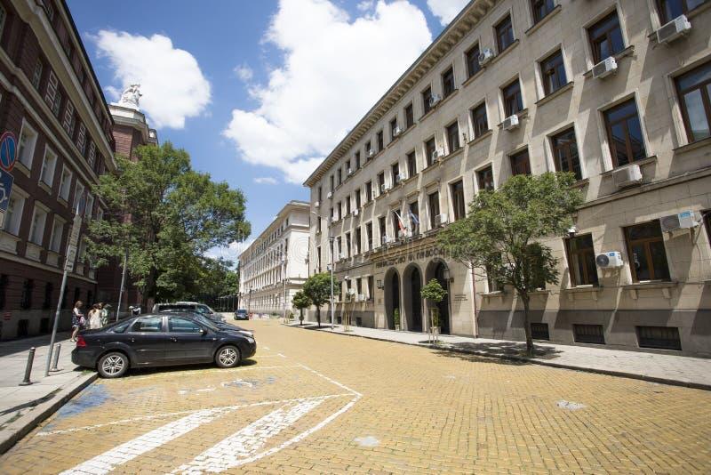 De bouw van Ministerie van justitie in de stad van Sofia, Bulgarije royalty-vrije stock afbeelding