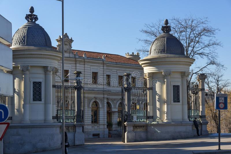 De bouw van Ministerie van landbouw in Stad van Madrid, Spanje royalty-vrije stock fotografie