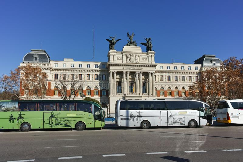 De bouw van Ministerie van landbouw in Stad van Madrid royalty-vrije stock fotografie