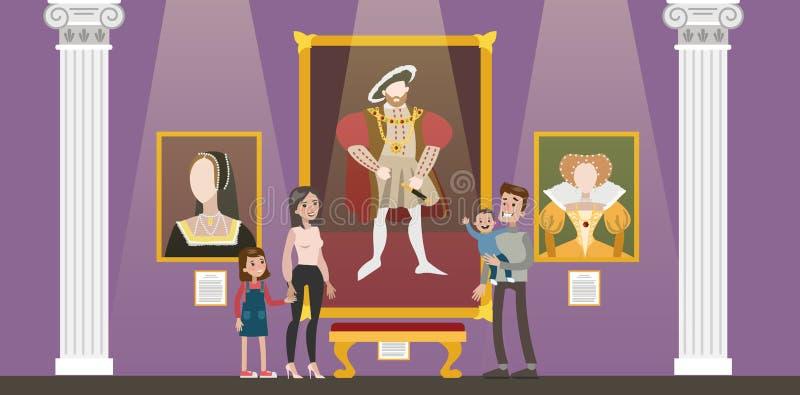 De bouw van de museumstad vector illustratie