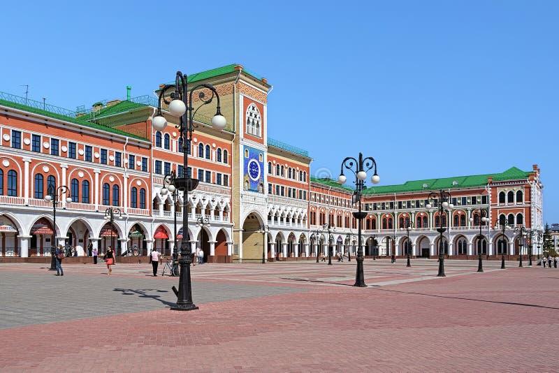 De bouw van Nationaal Art Gallery in Yoshkar-Ola, Rusland stock fotografie