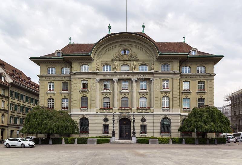 De bouw van National Bank van Zwitserland, Bern royalty-vrije stock foto