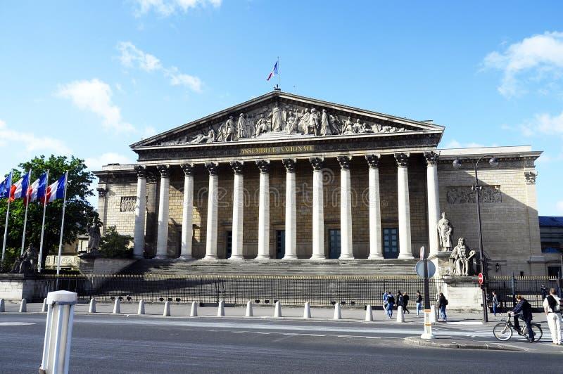 De bouw van Nationale assemblee in Parijs stock fotografie