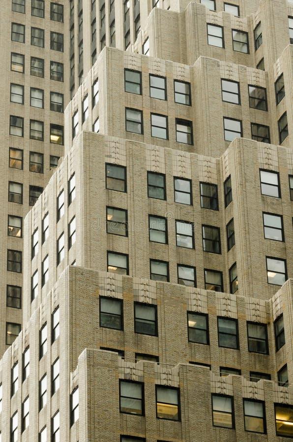 De bouw van Newyorker in Manhattan stock foto