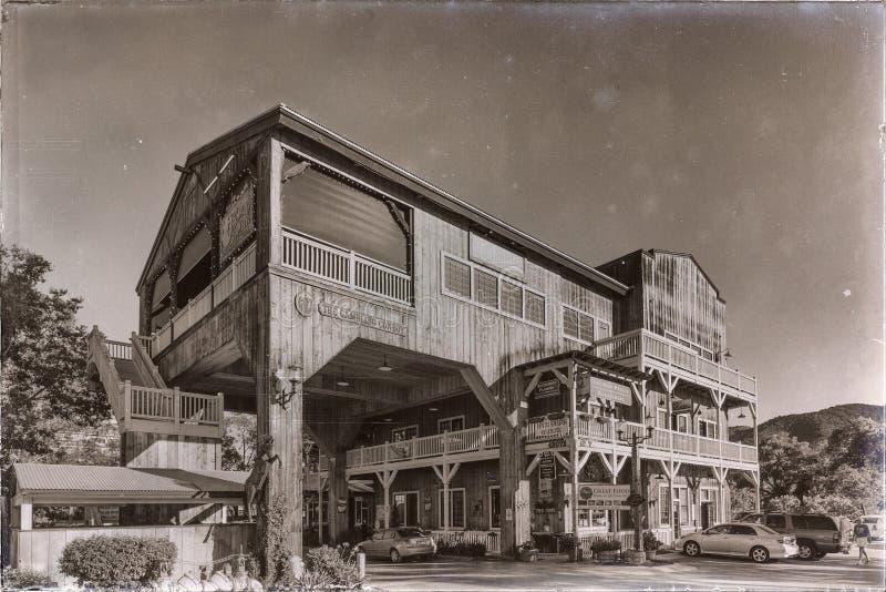 De bouw van Oude Stad Temecula royalty-vrije stock foto's