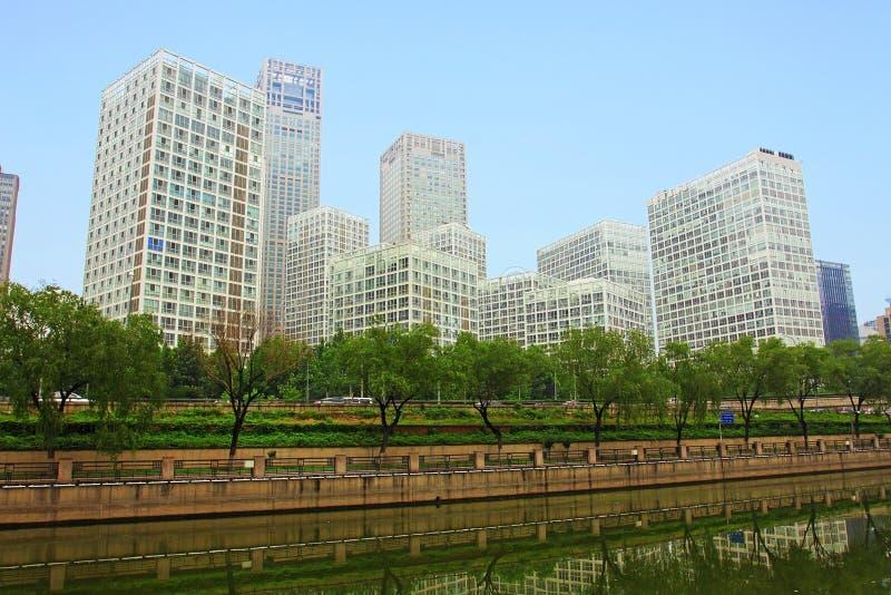 De bouw van Peking stock foto's