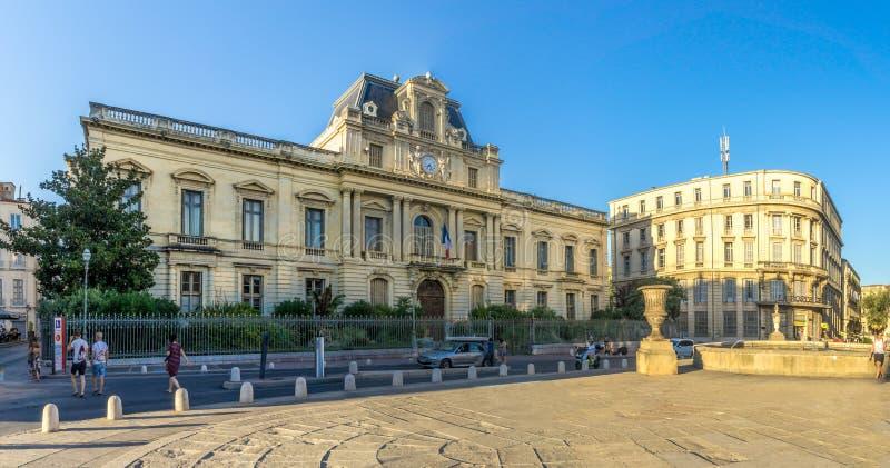 De bouw van Prefectuur in Montpellier stock afbeelding