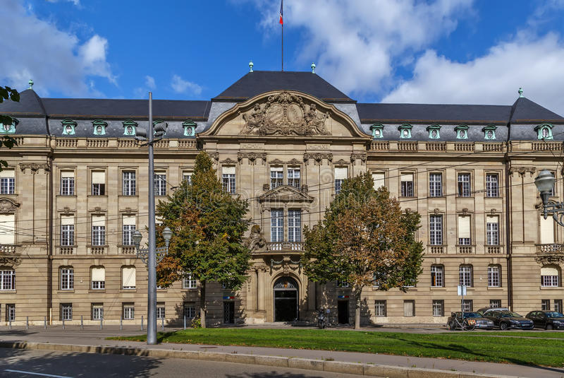 De bouw van prefectuur, Straatsburg royalty-vrije stock foto's
