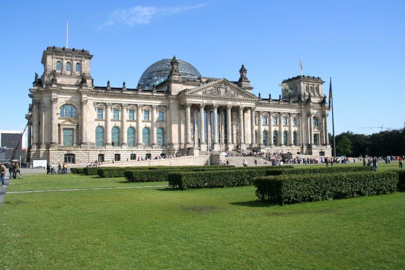 De bouw van Reichstag in Berlijn stock afbeelding