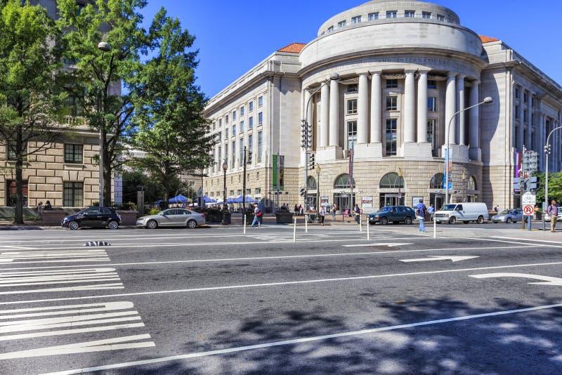 De Bouw van Ronald Reagan, Washington DC stock foto's
