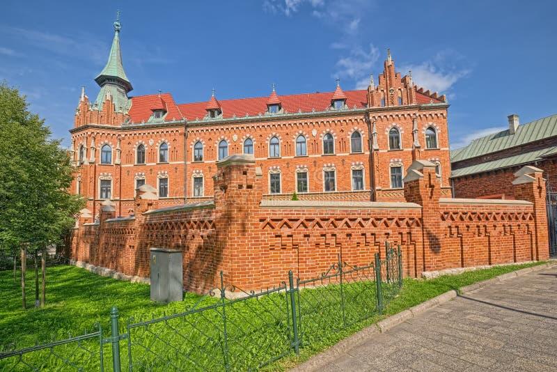 De bouw van Seminarie van Aartsbisdom van Krakau, Krakau, Polen royalty-vrije stock afbeelding
