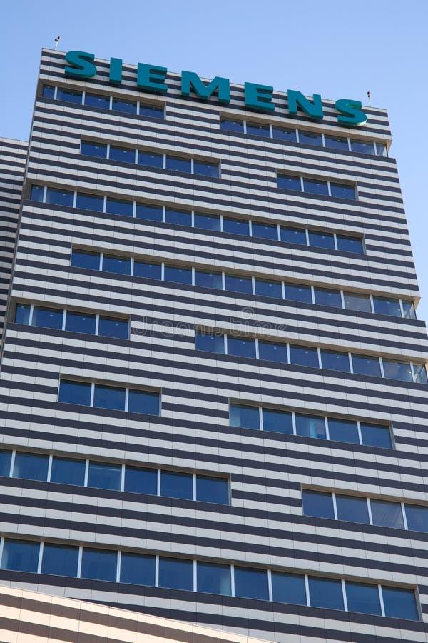 De Bouw van Siemens, het nieuwe hoofdkwartier van Genoa Siemens Italy/wolkenkrabber/de bouw/industrie/handel royalty-vrije stock foto's