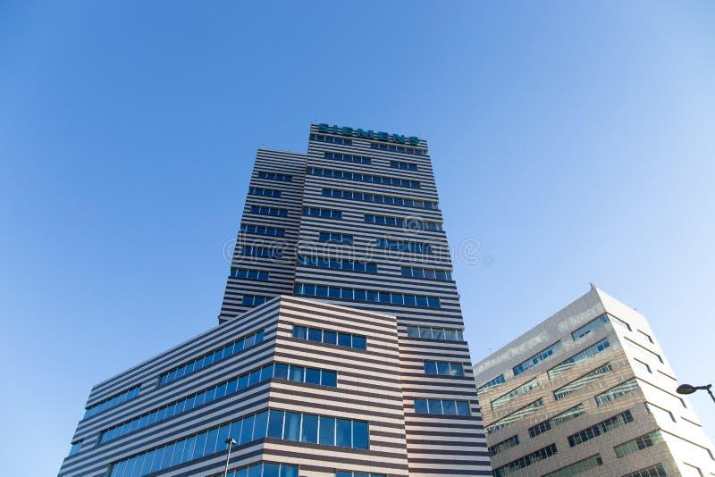De Bouw van Siemens, het nieuwe hoofdkwartier van Genoa Siemens Italy/wolkenkrabber/de bouw/industrie/handel stock fotografie