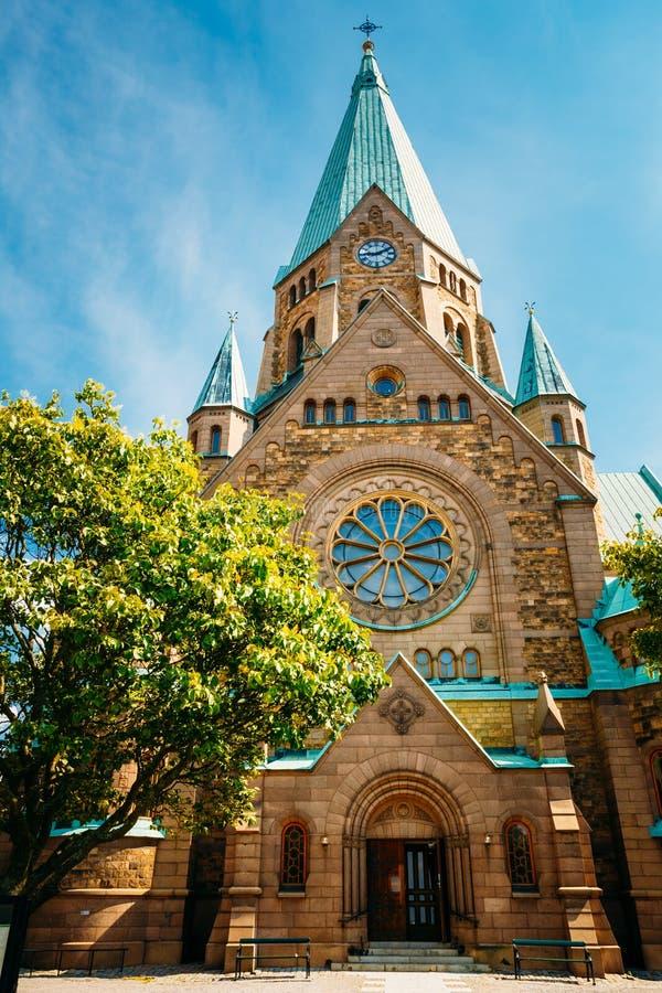 De bouw van Sofia Kyrka - Sofia Church In royalty-vrije stock foto