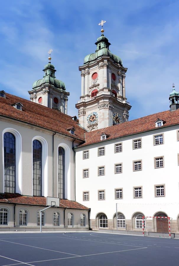 De bouw van St. Gallen Universiteit. royalty-vrije stock foto's