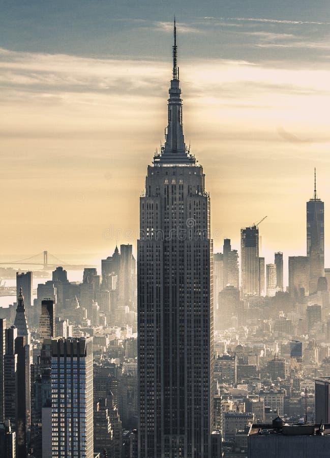 De Bouw van de Staat van het imperium, de Stad van New York stock foto's