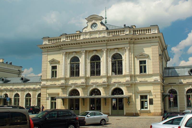 De bouw van station in Przemysl, Polen royalty-vrije stock fotografie