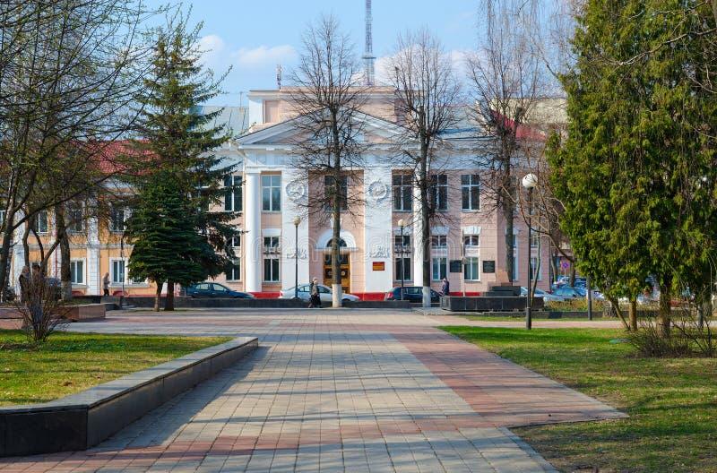 De bouw van Technische schoolarchitect S D Shabunevsky, bouwjaar - 1909 Nu - Gomel-de Polytechnische Universiteit van de Staat stock foto's