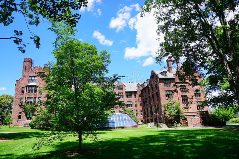 De bouw van de de Universiteitscampus van MT Holyoke stock foto