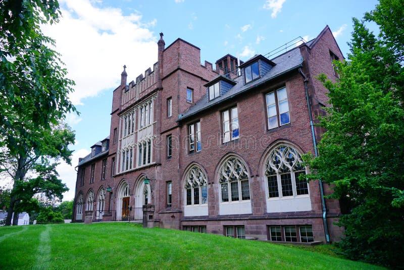 De bouw van de de Universiteitscampus van MT Holyoke stock fotografie