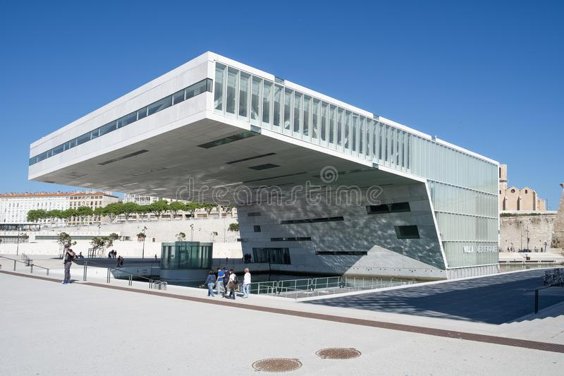 De bouw van villamediterranee in Marseille, Frankrijk royalty-vrije stock foto