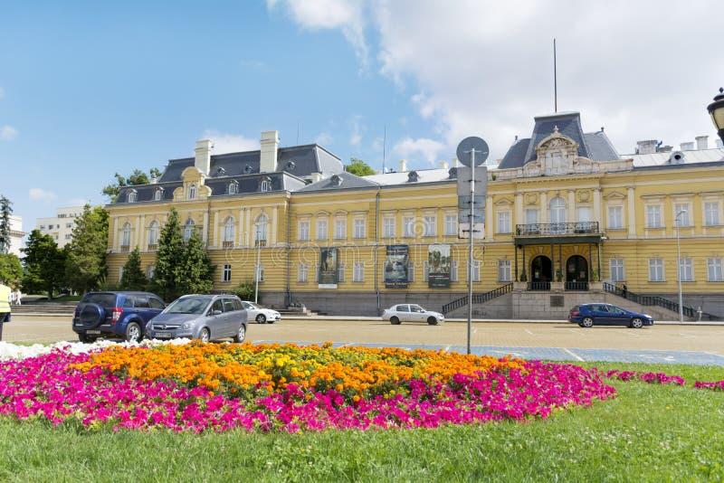 De bouw van Vroeger Royal Palace Vandaag Nationaal Art Gallery in Sofia stock foto's