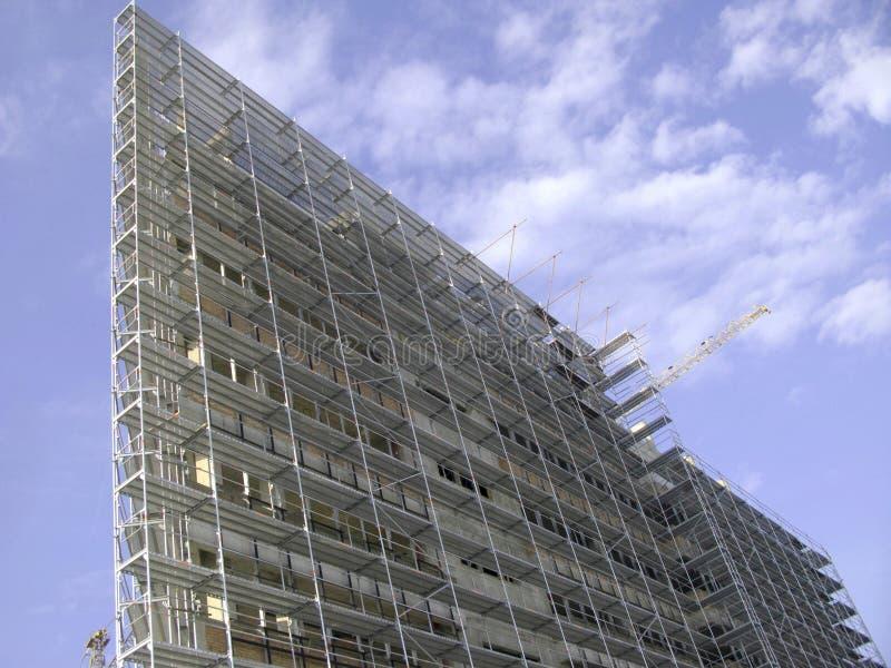 De bouw van wolkenkrabbers royalty-vrije stock afbeeldingen