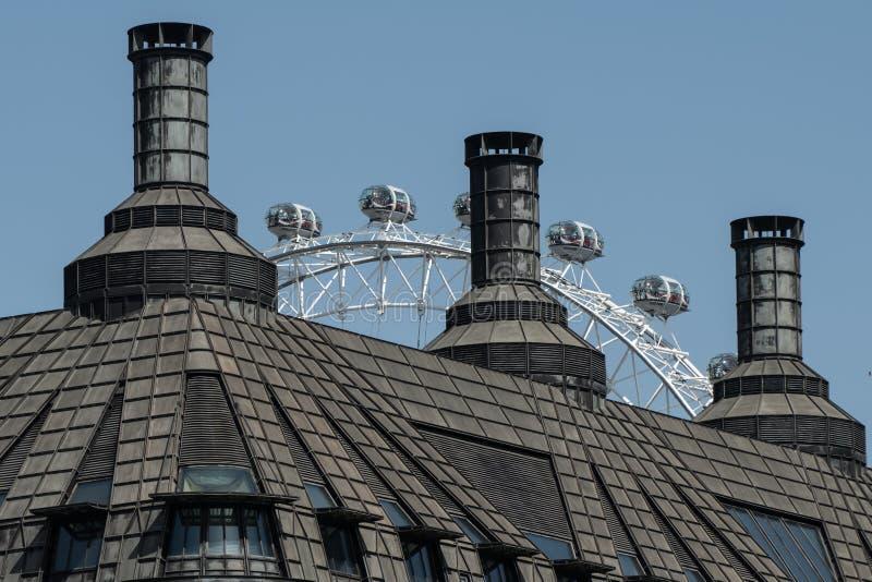 De bouw in Westminster, Londen wordt gevestigd dat royalty-vrije stock foto
