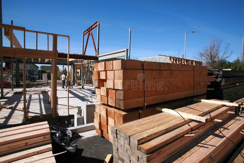 De bouwconstructie en de bouwconcepten van het huis stock afbeelding