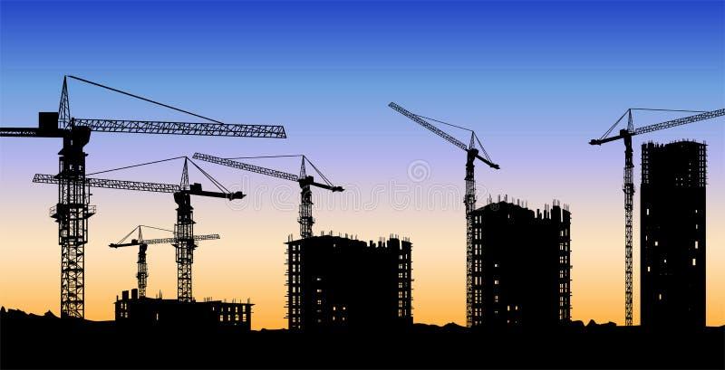 De bouwconstructievector vector illustratie