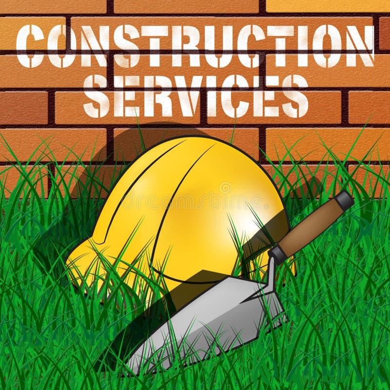 De bouwdiensten vertegenwoordigt 3d Illustratie van het de Bouwwerk vector illustratie