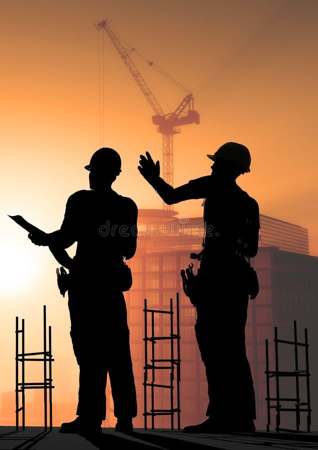 De bouwers royalty-vrije illustratie