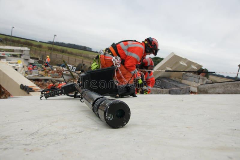 De bouwinstorting, rampenstreek stock afbeeldingen