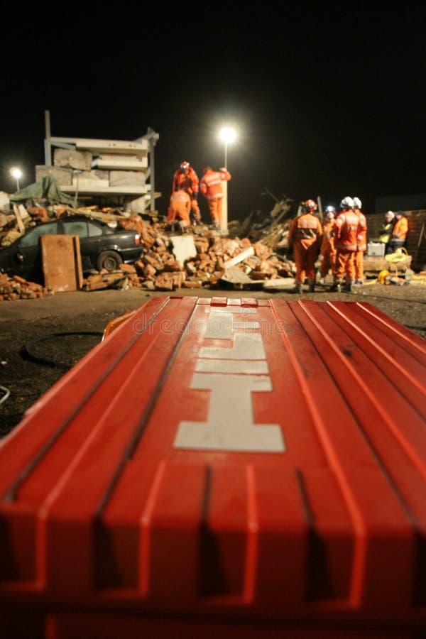 De bouwinstorting, rampenstreek stock foto