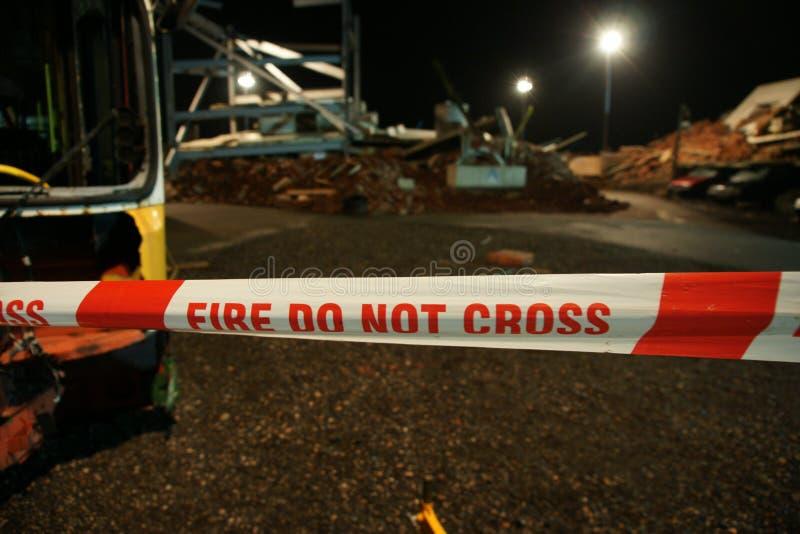 De bouwinstorting, rampenstreek stock afbeelding