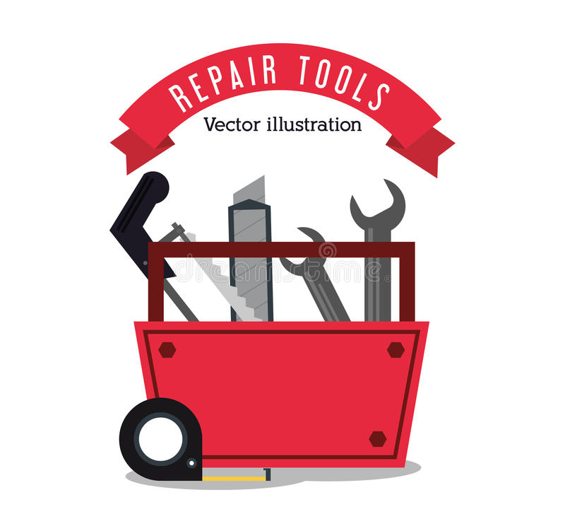 De bouwontwerp van reparatiehulpmiddelen stock illustratie