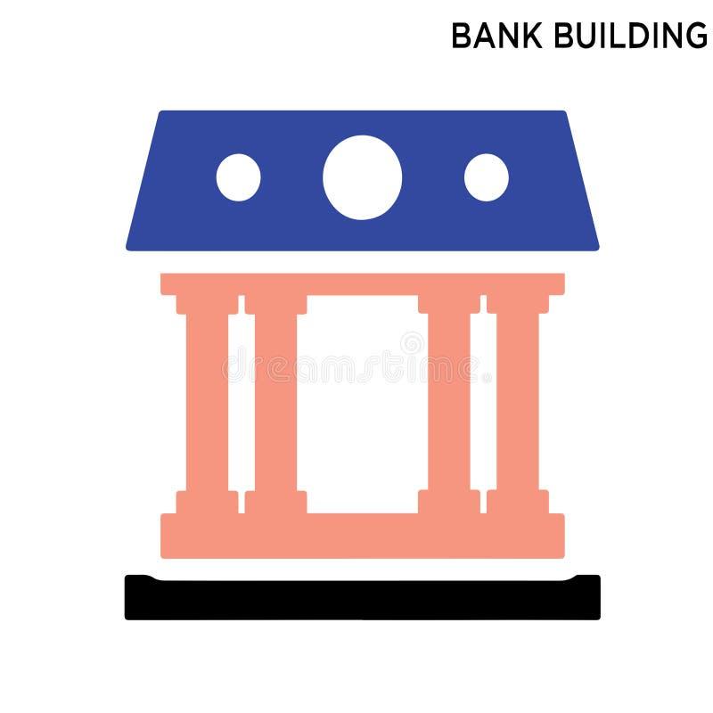 De bouwpictogram van de bank stock illustratie