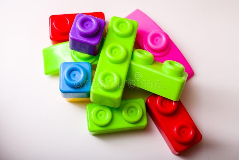 De Bouwstenen van Lego stock foto's