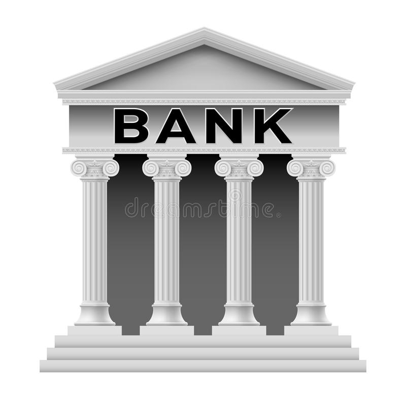 De Bouwsymbool Van De Bank Stock Foto's