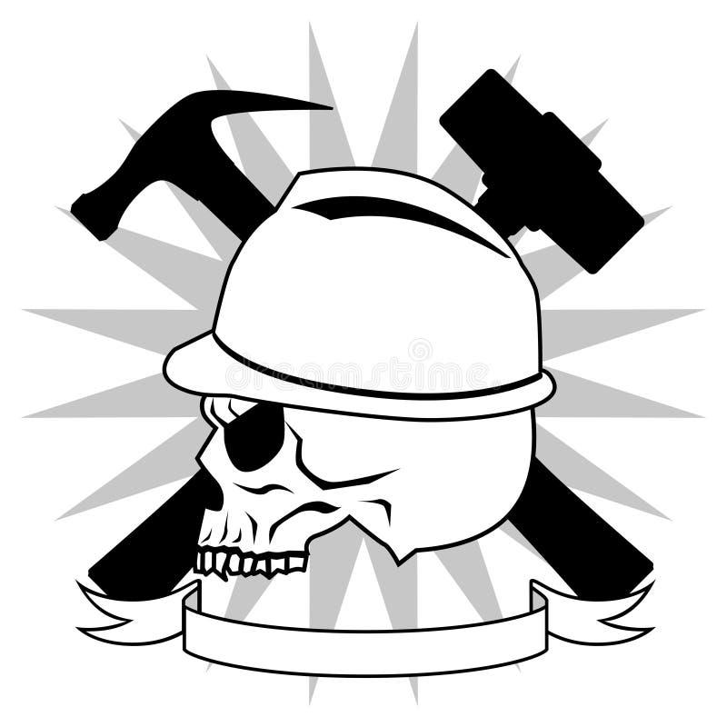 De bouwvakker van de dood stock illustratie