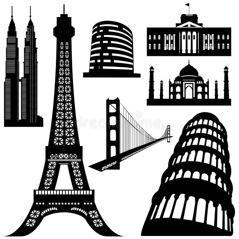 De bouwvector van de architectuur royalty-vrije illustratie