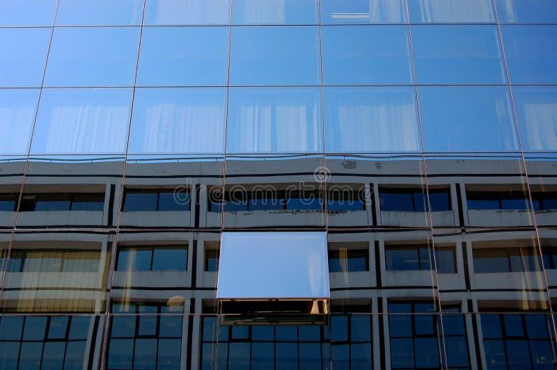 De bouwvenster van het glas stock afbeelding
