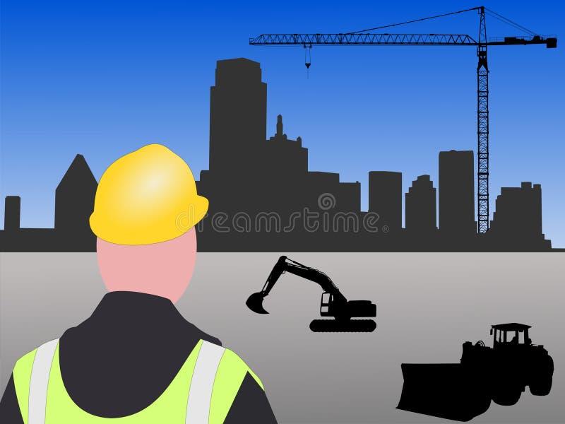 De bouwwerf van Dallas stock illustratie