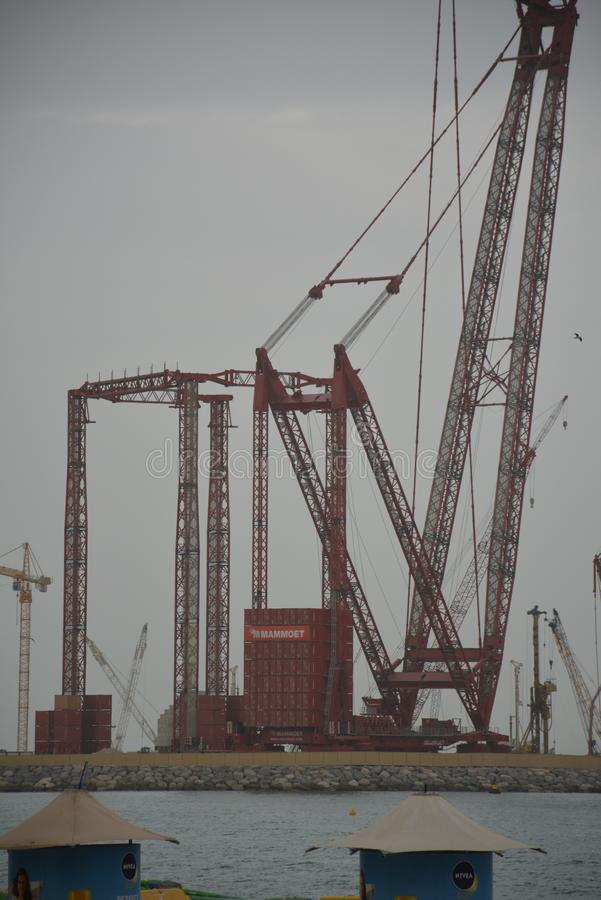 De bouwwerf van Doubai op zee royalty-vrije stock afbeelding