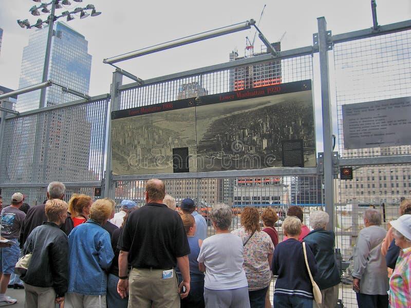 De Bouwwerf van het World Trade Center stock fotografie