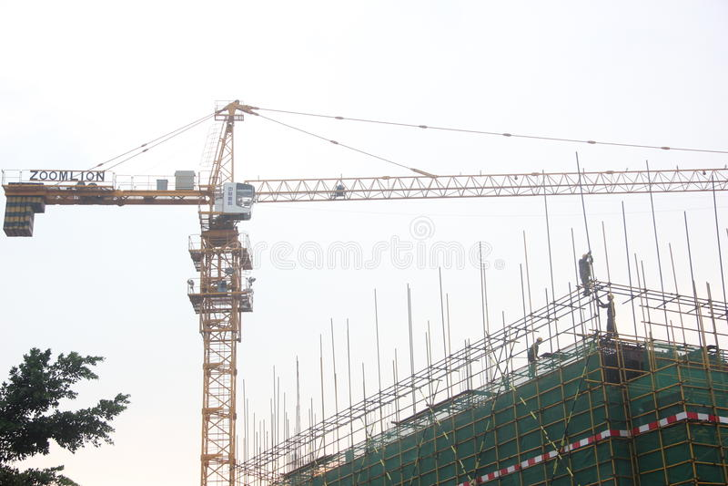 De bouwwerven shenzhen binnen ï ¼ Œchinaï ¼ ŒAsia royalty-vrije stock fotografie